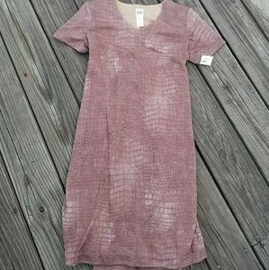 Fully lined NWT DUO small copper maternity dress